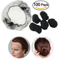 100pcs (Black) Invisible Hair Net Hair Hairnets Elastic Edge Mesh Hairnet Mesh