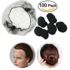100pcs (Black) Invisible Hair Net Hair Hairnets Elastic Edge Mesh Hairnet Mesh