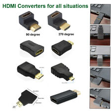 HDMI Male to Female Extension Adapter Converter Mini/Micro HDMI Cable-Connector