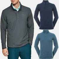 Under Armour Mens Golf Storm Sweater Fleece Mock Long Sleeve Collared Sweater