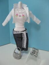 COMPLETO DENIM JEANS FASHION FEVER DI BARBIE (BARBIE OUTFIT ONLY)