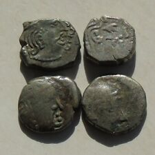 More details for 4 coins of the ancient india gupta kingdoms, silver units drachms around 2g each