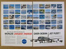 1960 Pan Am DC-8 Jet Clipper 50 Flight Destinations Times vintage print Ad