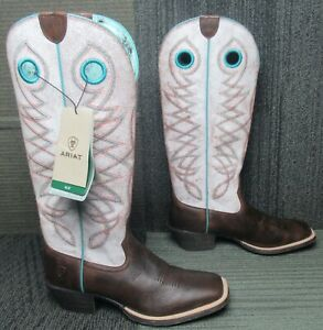New Wmns ARIAT Round Up Buckaroo Western Leather Cowgirl Boot sz 8 B