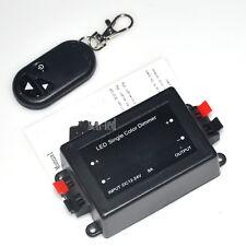 DC12-24V 8A Wireless Remote LED Light Single Color RF Dimmer Controller Black