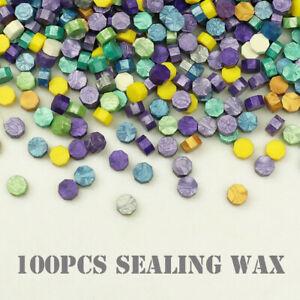 100pcs Colourful Sealing Wax Beads Seal Sign Stamp Melt Envelope Card Wedding