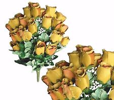 """24 Olive Closed Rose 23"""" Lg Bouquet Wedding Party Home Decor Flower Favor Office"""