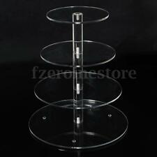 4 Tier Acrylic Cup Cake Stand Display For Birthday Wedding Party Shop Dessert