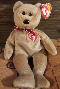 Ty Beanie Babies 1999 Original Beanie Baby Signature Bear with tag error