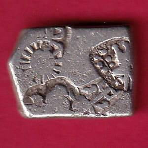 ANCIENT MAURYAN PERIOD MAGADH DYNASTY BEAUTIFUL SILVER PUNCHMARK COIN #D43