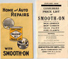 Vintage Advertising 1929 Smooth-On No 1 Home & Auto Repairs Iron Cement Booklet