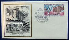 Enveloppe 1é jour Burin d'or du 10 7 1971 Prise de la Bastille en 1789 Paris