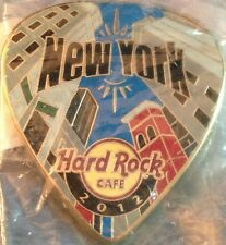 Hard Rock Cafe NEW YORK 2012 POSTCARD Series Guitar Pick PIN Post Card HR #68096
