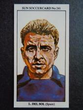 The Sun Soccercards 1978-79 - Luis Del Sol - Spain #241
