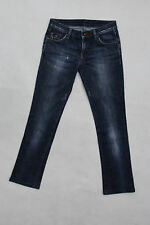 GAS MONTEGO LADIES JEANS FADED BLUE DENIM BOOTCUT STRETCH FIT W26 UK8 FRAYED