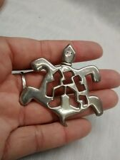 sterling 925 cast turtle pin brooch Nice Native American Strong John Ts