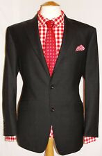 "MEN'S RACING GREEN CHARCOAL GREY DESIGNER SUIT UK 44S W38"" XL29"""