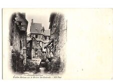 CN81. Vintage Postcard. Caudebec-en-Caux. Old houses on St. Gertrude River.