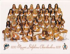 2010-11 MIAMI DOLPHINS OFFICIAL CHEERLEADER 9X12 COLOR PHOTO PICTURE CARD SGA