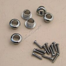 Chrome Machine Head Tuners Mounting Bushings + Screws for LP Classical Guitar
