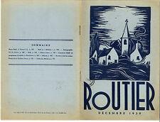 revue Scout FSC Belgique ROUTIER de décembre 1939