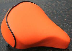 Orange Cool Comfort Bicycle Saddle  Vintage Schwinn Tank Bike Beach Cruiser Seat