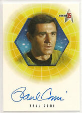 Star Trek 35th Anniversary TOS Autograph Card A10 Paul Comi Lt. Stiles