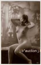 ART Deco * nude French Girl/Nude Donna francese * VINTAGE 10s biederer Photo PC