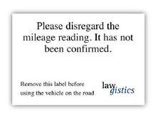 Vehículo De Kilometraje descargo de responsabilidad pegatinas para la venta de automóviles con kilometraje no confirmado