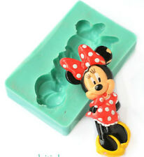 SILICONE MOULD MINNIE MOUSE BOW FIGURE BIRTHDAY BABY CUPCAKE ICING CAKE TOPPERS