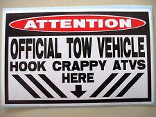 FUNNY ATV WARNING QUAD BIKE ATC MUD SLUT BOGGING STICKER DECAL TOW VEHICLE 661