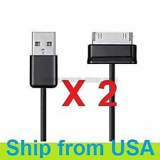 """2 PCs USB DATA SYNC CHARGER CABLE FOR SAMSUNG GALAXY TAB 7"""" 9"""" 10.1"""""""