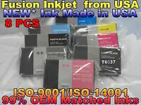 8 NEW Pigment Ink Compatible Cartridge for Epson Stylus Pro 7880 9880 220ml UV