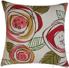 Red/Pink/Gold/Green Rainforest decorative throw pillow cover/cushion cover 18x18