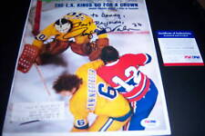 Rogie Vachon Kings Psadna Signed Sports Illustrated
