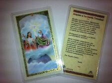 HOLY PRAYER CARDS TO THE HOLY TRINITY SET OF 2 IN SPANISH WITH FREE SHIP IN US!