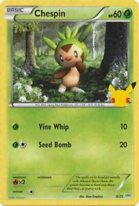 Chespin 6/25 Non Holo McDonalds 25th Anniversary Promo Pokemon Card - MINT