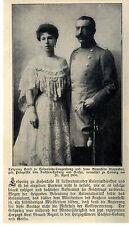 Erbprinz Ernst zu Hohenlohe-Langenburg & Gemahlin Alexandra geb.Prinzessin 1906