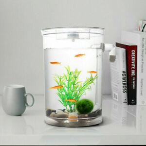 Modern Self Cleaning Aquarium Mini Fun FISH TANK Kit + Led Light Gravity Clean