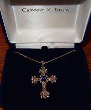 Camrose & Kross Jacqueline Jackie Kennedy Queen Mother's Cross Pendant