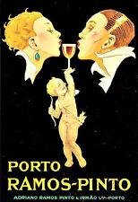 Art Ad Porto Ramos Pintos  Drink Alcohol Drinks Pub Bar Chic Deco   Poster Print
