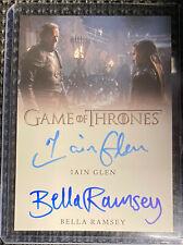 Iain Glen and Bella Ramsey - DUAL AUTOGRAPH CARD - Game of Thrones Season 8