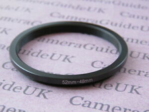52mm to 48mm 52mm-48mm Stepping Step Down Filter Ring Adapter