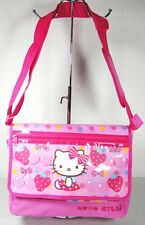Sac bandoulière avec rabat Hello Kitty rose décor fruits