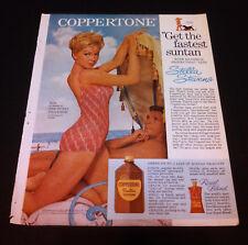 "Stella Stevens Magazine Ad Coppertone 1963 ""The Nutty Professor"" Swimsuit Photo"