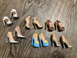Bratz Feet Heels Shoes Lot 6 Open Toe Straps stiletto RARE