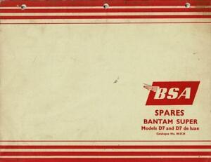 Factory BSA Bantam Super D7 175cc 1966 00-5124 PARTS MANUAL, VERY NICE USED %113