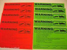 10-ORANGE & GREEN VIOLATION NO PARKING TOWING WARNING SIGN CAR WINDOW STICKERS