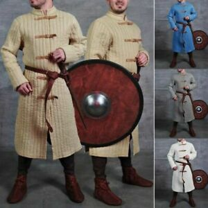 Medieval Vintage Renaissance Warrior Gambeson Thick Padded Long Sleeve Costume