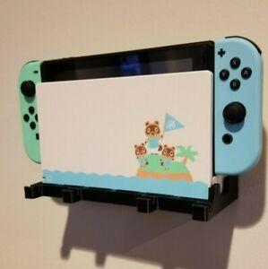 Nintendo Switch Dock Wall Mount Holder Stand Display Game Organizer hidden
